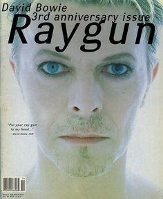 "David Carson (designer), Ray Gun cover #30 ""David Bowie"", October 1995"