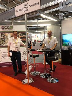 SCCG Directors Gideon Hillman and Gavin Parnell on the second day of the show, at our other stand, UK16.