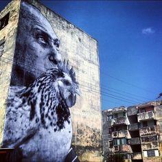 Juxtapoz Magazine - JR x Jose Parla: Wrinkles Of the City Havana, Cuba Murals Street Art, 3d Street Art, Street Art News, Best Street Art, Street Art Graffiti, Street Artists, Cuba Street, Urbane Kunst, Cuban Art