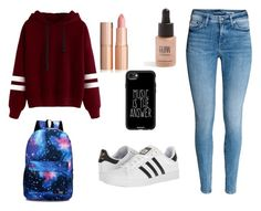 """""""Shopping Outfit"""" by favouro on Polyvore featuring Topshop, Casetify and adidas"""