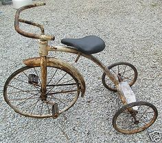 Vintage Antique Early Tricycle