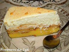 Portuguese Desserts, Portuguese Recipes, Icebox Cake Recipes, Dessert Recipes, Nutella Cake, Tiramisu Recipe, Candy Cakes, Sweet Cakes, No Bake Cake