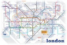 London Underground Metro System T Shirt by HotMonkeyGraphics, $16.99
