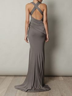 Don't know what the front looks like, but I sure love the back.  Another design from my same birthday gal, Donna Karan.