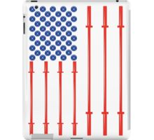 American Muscle - USA Flag iPad Case Are you a patriot or a veteran who is really into fitness and freedom? Show your love for both with the American Muscle Flag iPad Case. The American flag is made out of plates and barbells aka weights and plates. Show off your results and get your American muscle power on today! Made in the USA. #patriot #veterans #bodybuilding #ipad #american #flag #usa #freedom #gym #shades #squats #crossfit #fitness #weightlifting #exercise