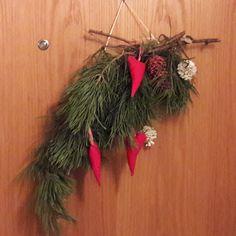 Helppo ovikoriste. Christmas Wreaths, Holiday Decor, Home Decor, Decoration Home, Room Decor, Home Interior Design, Home Decoration, Interior Design