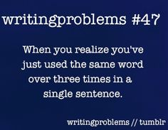 Single sentence? I get annoyed in a single paragraph! <-- basically yeah