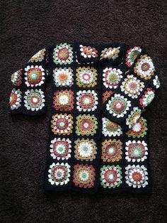 Herseyhden Var!: Motif Hırka - Gigi Hadid Hırkası ( Gigi Hadid Card... Crochet Coat, Crochet Cardigan, Crochet Motif, Crochet Shawl, Crochet Designs, Crochet Clothes, Free Crochet, Hippie Curtains, Crochet Humor