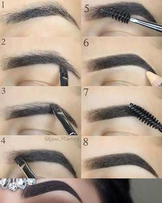 Yeah that's right you only need perfects eyebrows & your make up will look great So as you can see it's not that hard. Here are some make up ideas Eyebrow Makeup Tips, Makeup Guide, Skin Makeup, Eyeshadow Makeup, Beauty Makeup, Cute Makeup, Gorgeous Makeup, Makeup Looks, Maquillage On Fleek