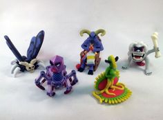 """Batch 08 of Two"""" Monsters. Includes the Reaper Moth, Val 9000, the Minotaur, Venus, and a Morlock."""