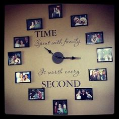 Incredible A Family Clock. Give your child a book to read.spiritsofaust… The post A Family Clock. Give your child a book to read. Family Clock, Ideas Paso A Paso, Diy Casa, Do It Yourself Home, Home And Deco, Handmade Home, Handmade Pottery, My Dream Home, Decorating Tips