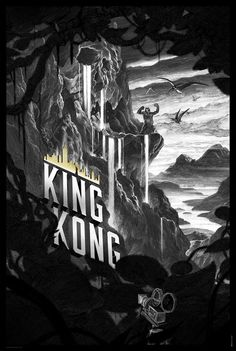 King Kong poster by Nicolas Delort for Dark Hall Mansion.