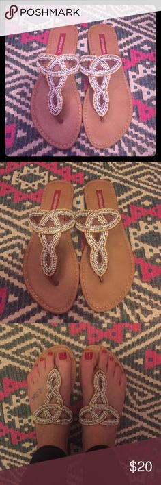 Union Bay Sparkling Bead Flip Flops Very cute, sparkling beaded flip flops from Union Bay. Adorable! Worn once! UNIONBAY Shoes Sandals