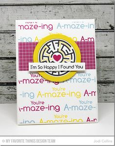 A-Maze-ing Card Kit - Jodi Collins  #mftstamps