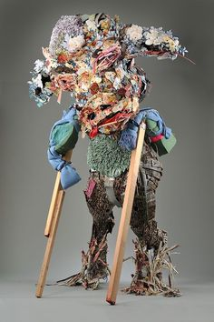 The work of Elisabeth Higgins O'Connor finds majesty in the abject and monumentality in the discarded. Remnants of bedclothes, blankets, pillows, couch cushions and knit Afghans gathered and donate… Textiles, Waste Art, Bedclothes, Knitted Afghans, Fiber Art, Art Dolls, Folk Art, Mixed Media, Pottery