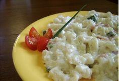 Bajor nokedli 2. - zöldhagymával Hungarian Recipes, German Recipes, Pasta Dishes, Potato Salad, Mashed Potatoes, Macaroni And Cheese, Bacon, Food And Drink, Favorite Recipes