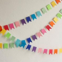 Recycling for handmade garlands, 15 brilliant decoration ideas - . - Recycling for handmade garlands, 15 brilliant decoration ideas – - Diy Birthday Banner, Diy Banner, Felt Banner, Birthday Table, Bunting Banner, Paper Bunting, Paper Garlands, Paper Decorations, Paper Wall Decor