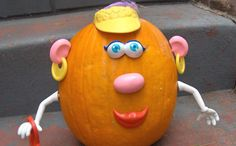 Mr. Potato head for pumpkins - No-Carve Pumpkin Decorating Ideas for Kids I Halloween Crafts for Kids - ParentMap