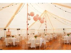 Marquee decor by Floral Ambitions