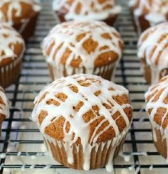 If you love Gingerbread cookies, you're gonna adore these amazing Glazed Gingerbread Muffins! Baby Food Recipes, Sweet Recipes, Cake Recipes, Dessert Recipes, Hungarian Desserts, Smoothie Fruit, Low Fat Desserts, Salty Snacks, Sweet Cakes