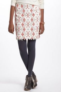 Blomma Cross-Stitched Skirt
