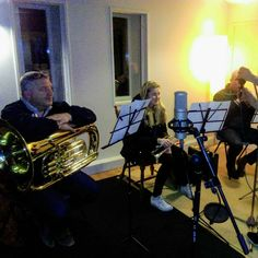 Back in the recording studio. The Moonbeams new album is a step nearer completion after another session in the newly completed Stonegate Recording Studios. Thanks to the musicians from Giggleswick and Settle Brass Band who came along to add the finishing touches to our track. It was great to work with you. * * #recording #brass #cornet #tuba #conducting #completion #music #studio #microphone #Yorkshire #yorkshiredales #songsfromthedales