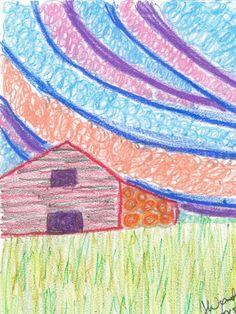 abstract-art-print-hay-bale-barn-glicee