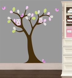 Girls Pattern Leaf Wall Art Tree Decal  Nursery by NurseryWallArt, $79.99