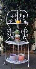 Planta de rack Estante Jardín De Flores Olla estantes de almacenamiento blanco pantalla de tienda de la esquina