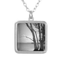 Black Tree by the Sea Necklace