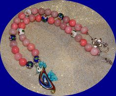 Now on Clearance Pink Jade Beads Cloisonne  by OceanGypsyJewelry 15% off all items until 10/31
