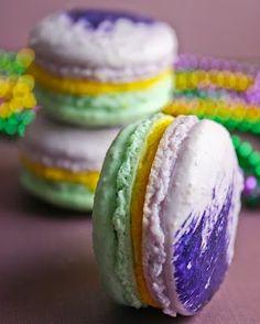 Mardi Gras Goodies -- Macaroons