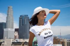 Prove them with this t-shirt that brunettes do it better ;) Get it now! www.shophappiness.com
