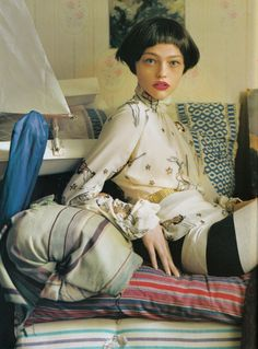 Sasha Pivovarova photographed by Tim Walker for Vogue UK January 2007