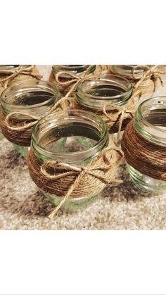 10 x Vintage Vases Orcio Jars Tea Light Holders Lace Twine Job Vintage Vases, Tea Light Holder, Twine, Tea Lights, Jars, Unique Jewelry, Handmade Gifts, Wedding, Etsy