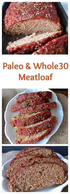 Paleo Meatloaf- This meatloaf has so much flavor and is super easy to make. Comfort food without the guilt. #paleo #whole30