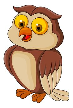 Illustration of Funny owl cartoon vector art, clipart and stock vectors.