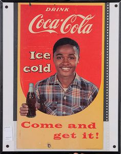 Rare 1956 African American Coca-Cola Come and Get It Poster, - Cowan's Auctions