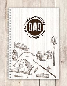Treat your father to a surprise gift delivery. This notebook is perfect for the adventurous dad in particular. This thoughtful stationery gift is a great gift idea for Father's Day! Gift Delivery, You Are The Father, Fathers Day, Great Gifts, Dads, Stationery, Notebook, Thoughts, Adventure