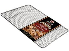 Premium Quality 12x17 Cooling Rack by BelKon Kitchenware 100 Stainless Steel Nonstick Strong Thick Gauge Wire Grid Oven  Dishwasher safe 500FHeat Resistance Fits Half Sheet Pan >>> Click image for more details.