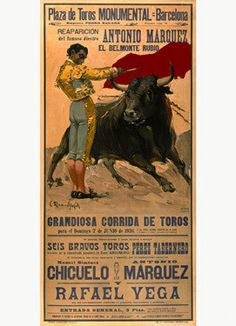 Plaza de Toros Bullfighting Ad Fine Art Print