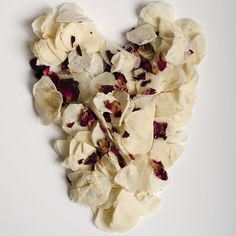 Ivory Red Rose Natural Petal Biodegradable Wedding Confetti www.adamapple.co.uk