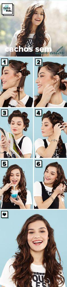 Tutorial para a vida: aprenda como fazer cachos no cabelo sem calor