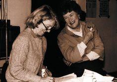 Julia Child with Judith Jones cookbook editor