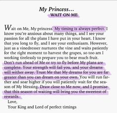 My princess... Wait on me. writing this in my journal!