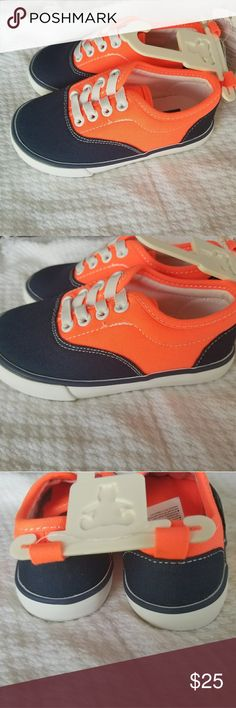 Selling this Babygap Orange And Blue Sneakers size 7 on Poshmark! My username is: urmusthaves. #shopmycloset #poshmark #fashion #shopping #style #forsale #babygap #Other