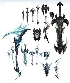 yeah now thats what i call a weapon Anime Weapons, Fantasy Weapons, Weapon Concept Art, Game Concept Art, Prop Design, Game Design, Sword Design, Susanoo, Medieval Weapons