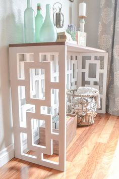 DIY Fretwork Console Table