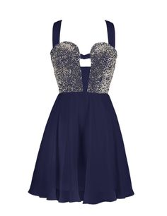 Sexy A-line Straps Knee Length Chiffon Prom/Homecoming Dress With Sequins Junior Homecoming Dresses, Prom Dresses 2015, Dance Dresses, Dress Prom, 1950s Dresses, Prom Gowns, Sexy Dresses, Vintage Dresses, Unique Dresses