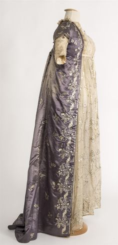 Dress and purple robe, 1st quarter of 19th century, Spain.